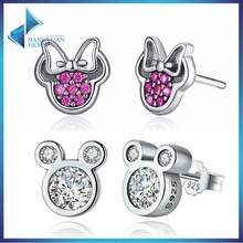 925 stering silver top rated Mickey Minnie earrings