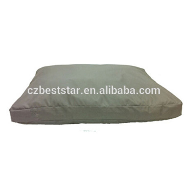 Grey 1200D polyester square pet bed