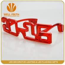 "Novelty ""2016"" shape led flashing sunglasses for New Year promotion gifts,LED party light up glasses"