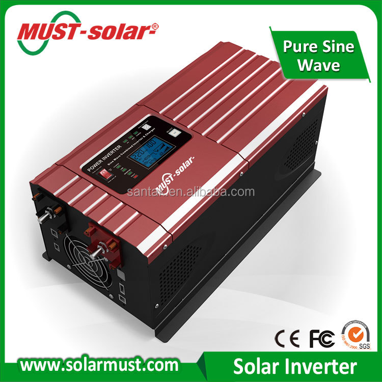 ISO and SGS solar inverter factory shenzhen MUST EP3000 Pro series 1KW DC12V hybrid solar inverter