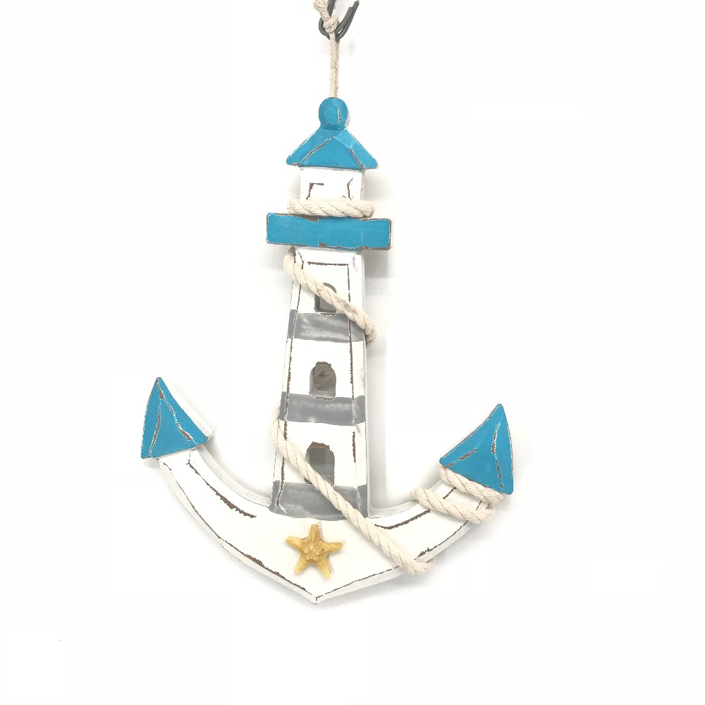 2018 new product Nautical handmade customized wooden anchor <strong>craft</strong>