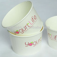 paper ice cream yogurt cup/frozen yogurt/container yogurt