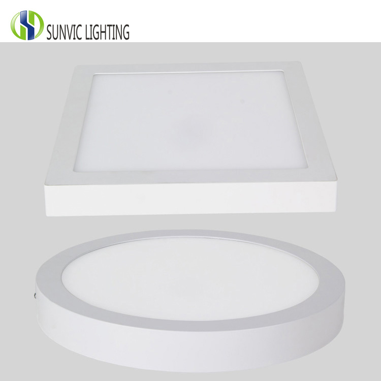 Round and square panel light 18w led surface mounted downlight