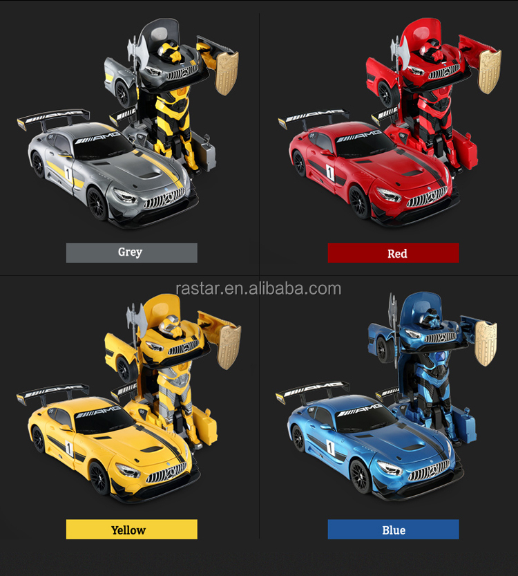 Rastar kis toys gift set one key transform remote control electric robot rc car
