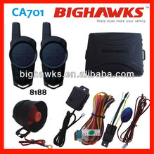 electronic security system project CA701-8188 car alarm system remote control BIGHAWKS auto security
