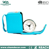 Leather small clock bulk table clock, decoration small face pocket clock