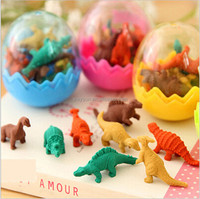 Dinosaur Egg rubber eraser (1 egg=8pcs), cartoon eraser, animal eraser