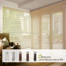 Bintronic Taiwan Window Curtain Blind Motor Motorized Vertical Blinds Electric Blinds Aluminium Accessories
