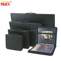 PU Leather Zippered Art Briefcase Presentation