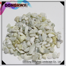 China manufacturer light green crushed washed original jade gravel stone