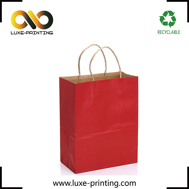 Hot red specialty paper custom free design taobao garment packaging bag