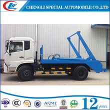 Dongfeng 2 axles 6 wheels 3cbm 5cbm 5000 liters 6000 liters skip loader garbage truck