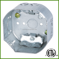 cETL Approved 4 Inch Electrical Junction Box With Cable Clamps