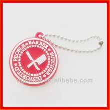 PVC rubber embossed garment hang tags for apparel