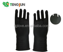 Heavy duty chemical resistant industrial rubber gloves