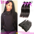 brazilian virgin remy hair healthy & soft 9a grade silky straight human hair weave