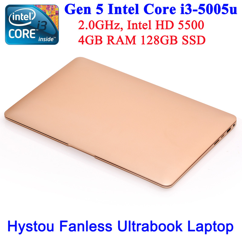 2016 Cheap New products! 13.3 inch fanless Wholesale laptop computer Windows 10 ultrabook Intel Core i3 5005u 4gb ram 128gb ssd