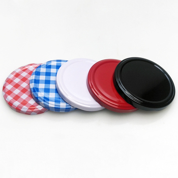 Wholesale colored 82mm metal screw lids twist off lids for glass jars