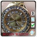 latest design watch round dial face 3 hands diamond watches