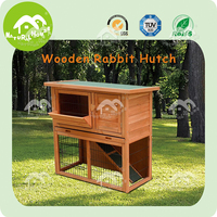 outdoor double decker handmade custom wooden rabbit hutch