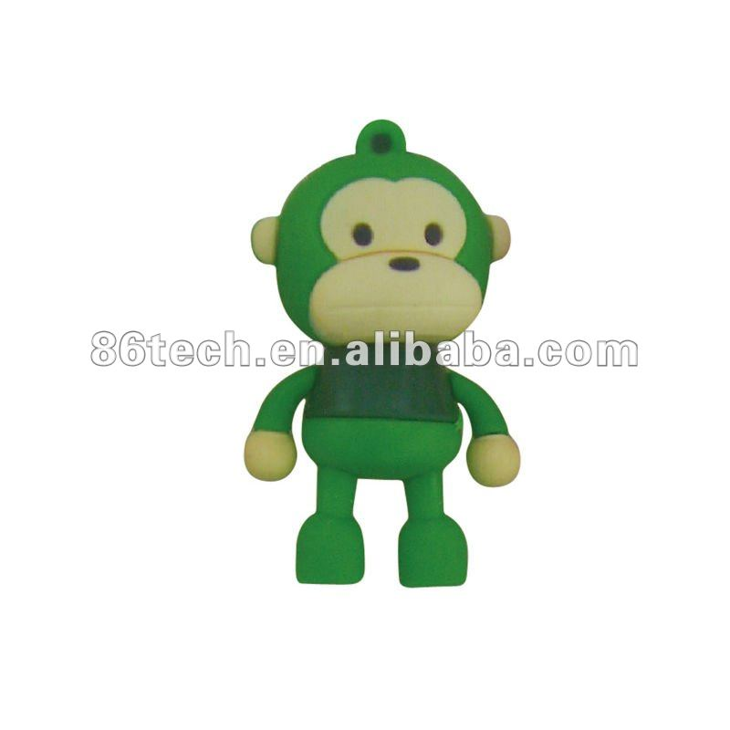 Cartoon character animal shape usb flash drive for kids