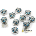 Imperial crown crystal button covers for cuff of men's shirts 15/18mm