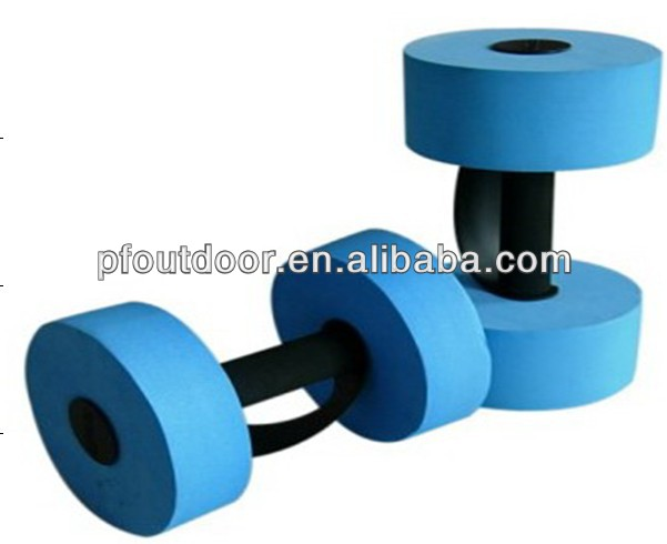 EVA water pool dumbbells swimming dumbbells aqua soft EVA foam floating barbell water foam barbells Dumbbell