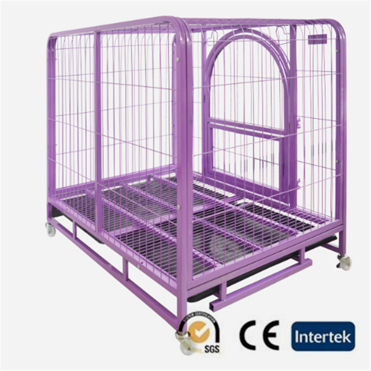 Pet dog crates with wheels bold dog cage