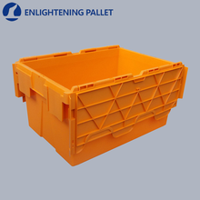 Heavy duty food stackable nestable euro plastic attached lid container for moving company