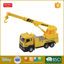 Zhorya 1:50 scale yellow mini metal diecast toy construction engineering crane truck for older kids