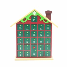 Wholesale decorative Christmas count down handmade wooden advent calendar