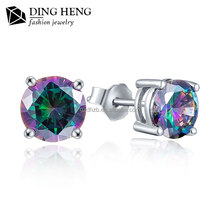 Guangzhou Panyu jewelry 925 silver stud dangler daily wear earrings for college girls
