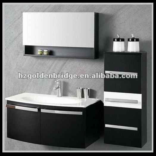 Black and white wash oak lacquer vanity furniture GBP012