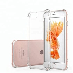 Simplicity Transparent Crystal Clear TPU Phone Case Cover For iPhone 7, For iPhone 7 Plus Mobile Phone Case