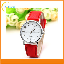 2017 Genuine Leather Band wrist women watch with women stainless steel watch simple