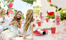Children Party Supplies Polka Dot Party Tableware One Stop Sourching for Party