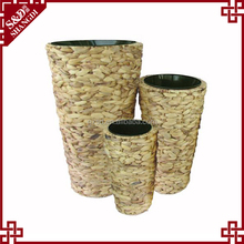 S&D handmade eco-friendly Synthetic Planter , water hyacinth Indoor&Outdoor Flower Pot , home and garden decoration Flower Vase