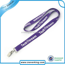 exellent quality custom purple lanyard with your own logo