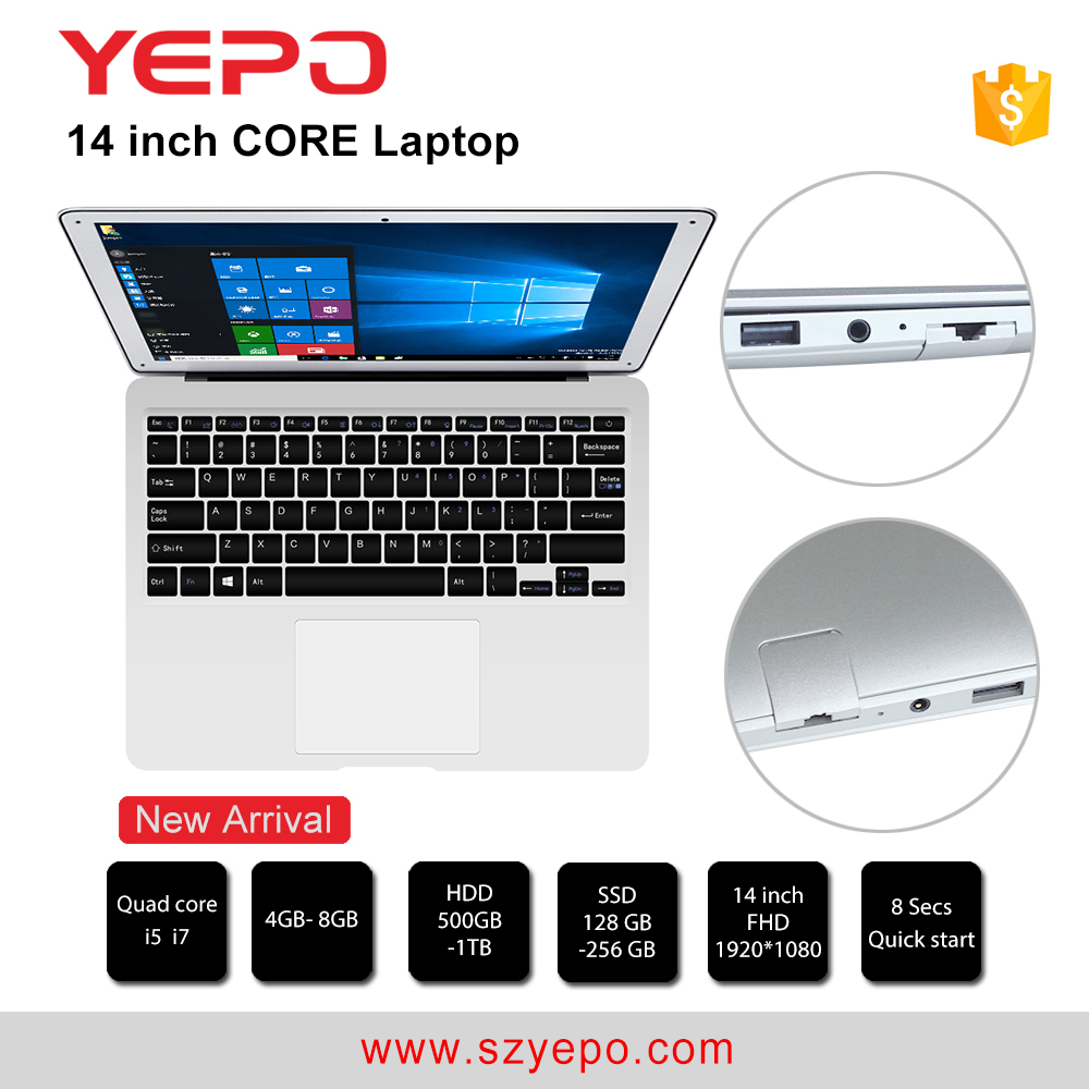 Promotional cheapest price14 inches laptop core i3 processor 4GB DDR3 HDD 500GB laptop i3