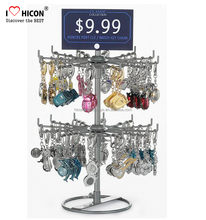 Save Your Time, Save Your Money Key Chain Merchandising Hair Clip Exhibition Metal Display Stand