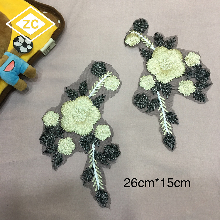 Customized Fashion Eco-friendly cheap Needless sewing materials 100% polyester lace chemical fabric