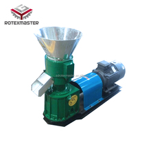 High quality of 100~500 kg/h diesel type sawdust compressing machine / wood fuel pellets