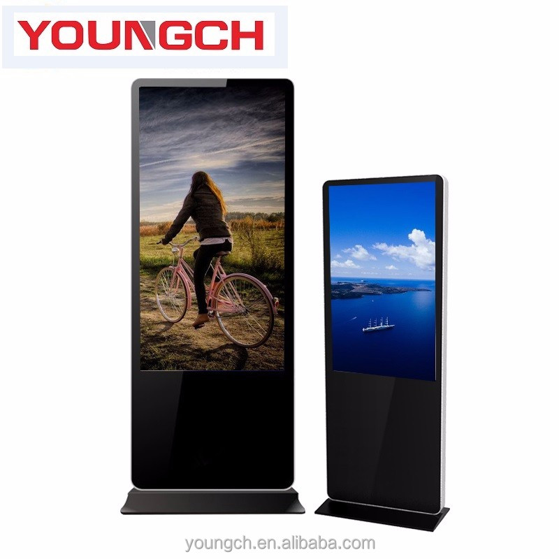 Totem floor standing lcd digital signage 42 in vertical screen touch high definition screen flat screen 16 9 aspect enjoyable te