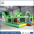 Animal theme inflatable bouncy castle giant inflatable bouncer with slide n obstacle