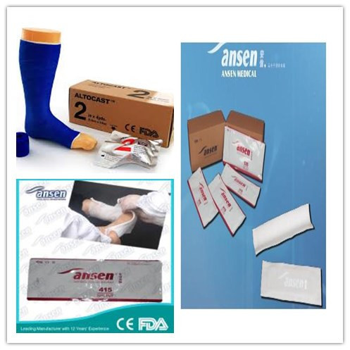 Synthetic Orthopedic Splint Paste Materials Ankle Splint Supplies