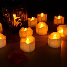 Yellow Flickering Tea Candle Romantic Flameless LED Candle Light For Home Festival