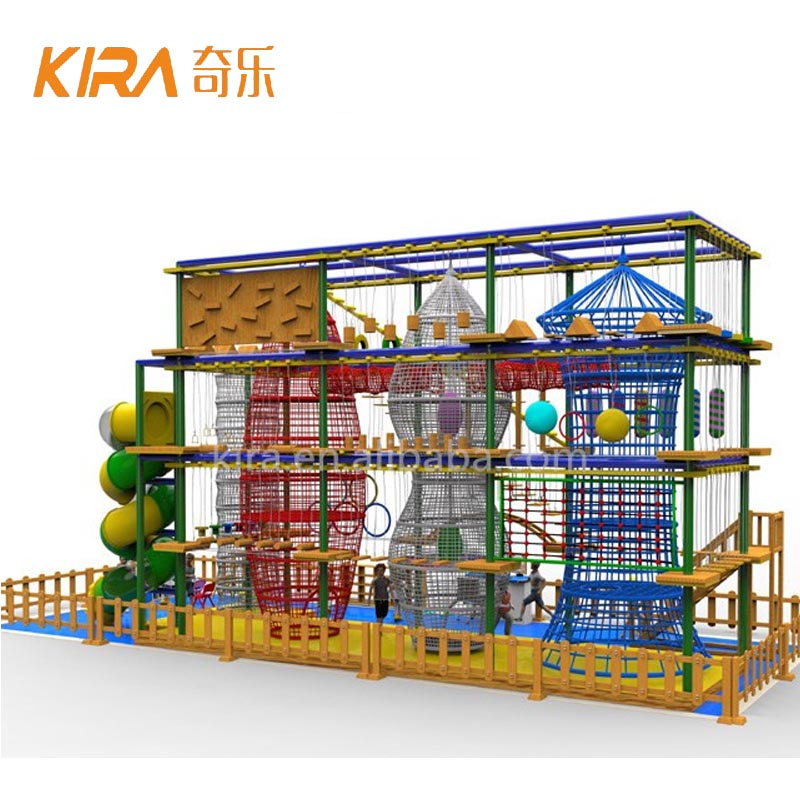 Challenge Indoor Rope Course Amusement Obstacle Course <strong>Equipment</strong> For Kids Play