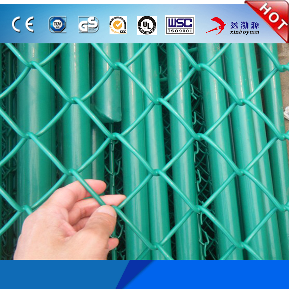 Colored Chain Link Fence, Used for Privacy Slats