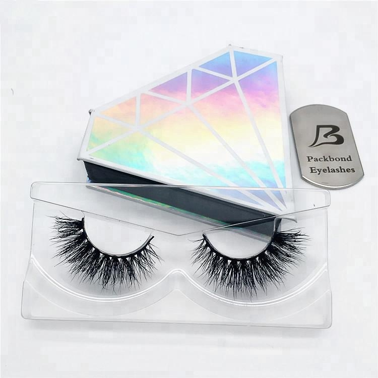 ba71d334c4c 2018 Luxury customized lash box diamond shape Own brand premium real  siberian 3D mink eyelashes, View 3D mink eyelashes, PB Product Details from  Qingdao ...