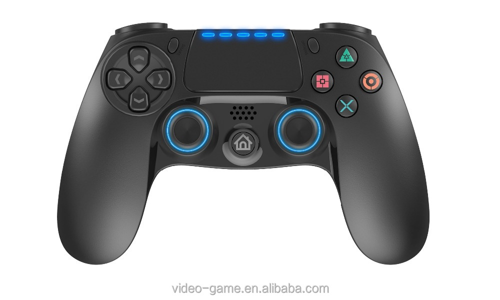 2017 hot selling wireless gamepad with touch pad and led light for PS4/PS3/PC